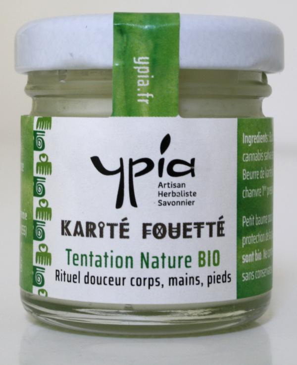 Un karité-coco-huile de chanvre fouetté